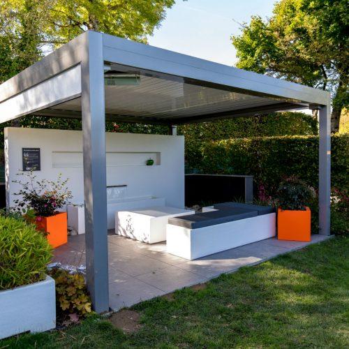 pergola bioclimatique limoges, aménagement de jardin limoges, paysagiste limoges
