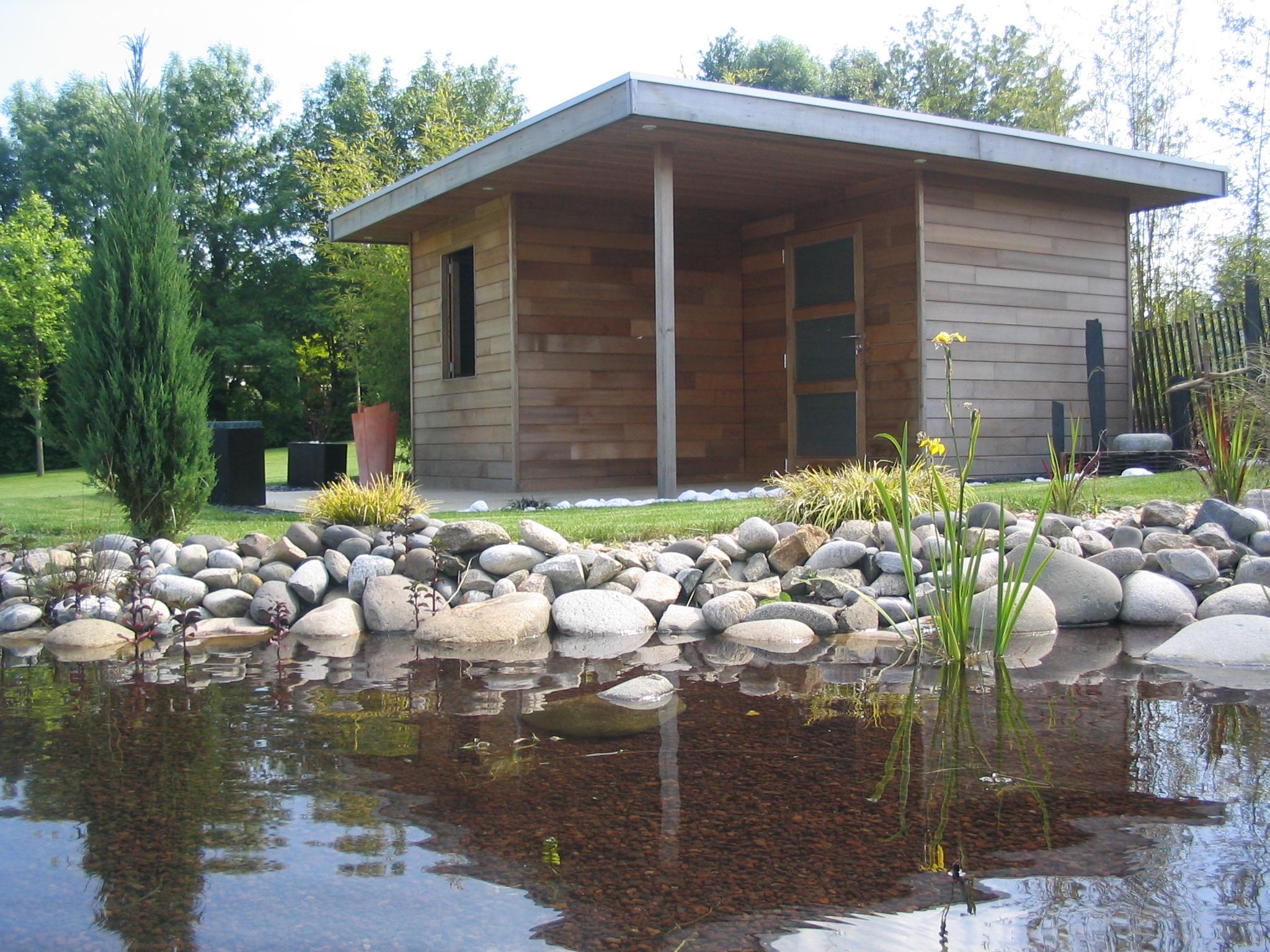 Abri de jardin poolhouse moderne