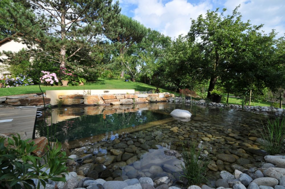 Baignades rebeyrol cr ateur de jardins for Bassin naturel piscine