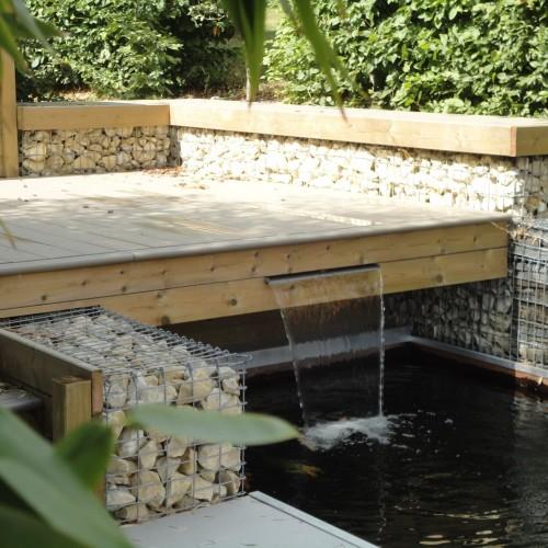 aménagement jardin limoges, création jardin limoges, terrasse limoges, fontaine limoges, bassin limoges, rebeyrol