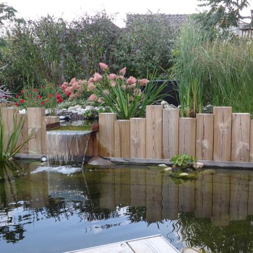 Bassins avec lame d eau rebeyrol - Bassin terrasse en bois l caen ...