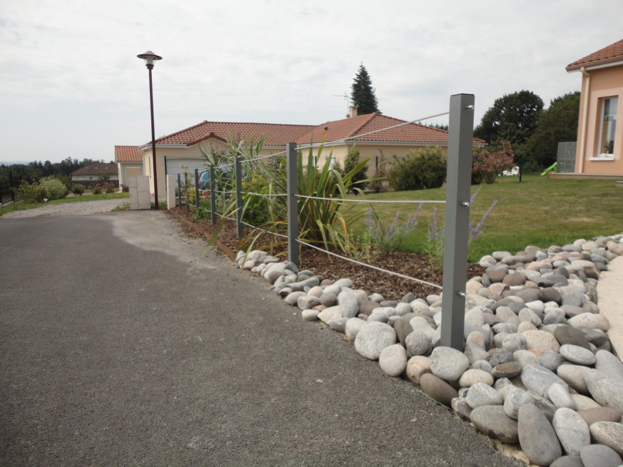 Clôture moderne en filains