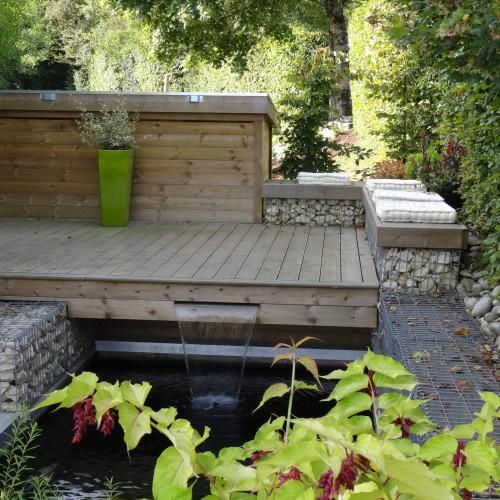 terrasse, terrasse bois, terrasse bois limoges, création terrasse limoges, bassin, bassin limoges, création bassin limoges, rebeyrol