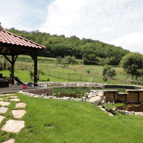 Kiosque bois tonnelle terrasse