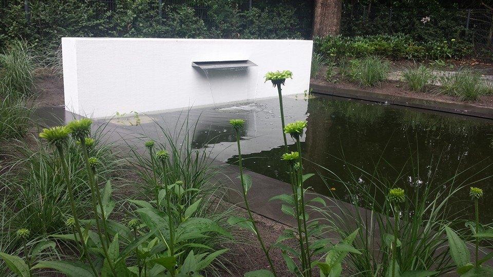 Muret résine avec fontaine - Muret en résine avec fontaine