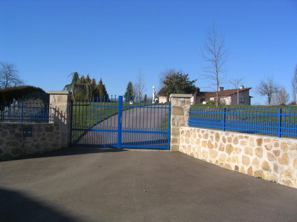 Muret et portail - Entrée paysagère