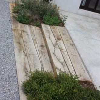 escalier en bois traverses rebeyrol am nagement et entretien des jardins. Black Bedroom Furniture Sets. Home Design Ideas
