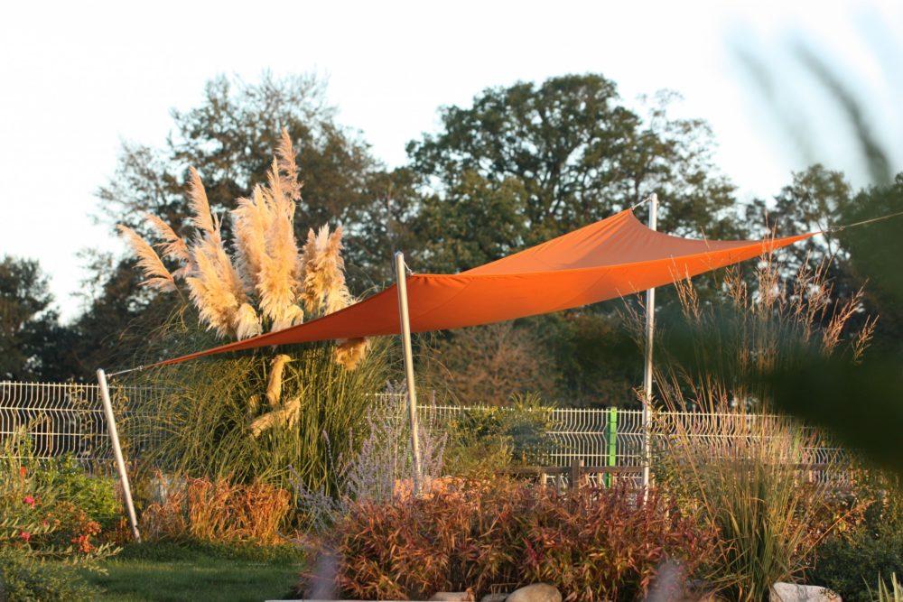 Toile ombrage orange - Toile d'ombrage