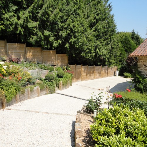 Am nagement d un jardin champ tre rebeyrol - Allee de jardin en beton rouen ...