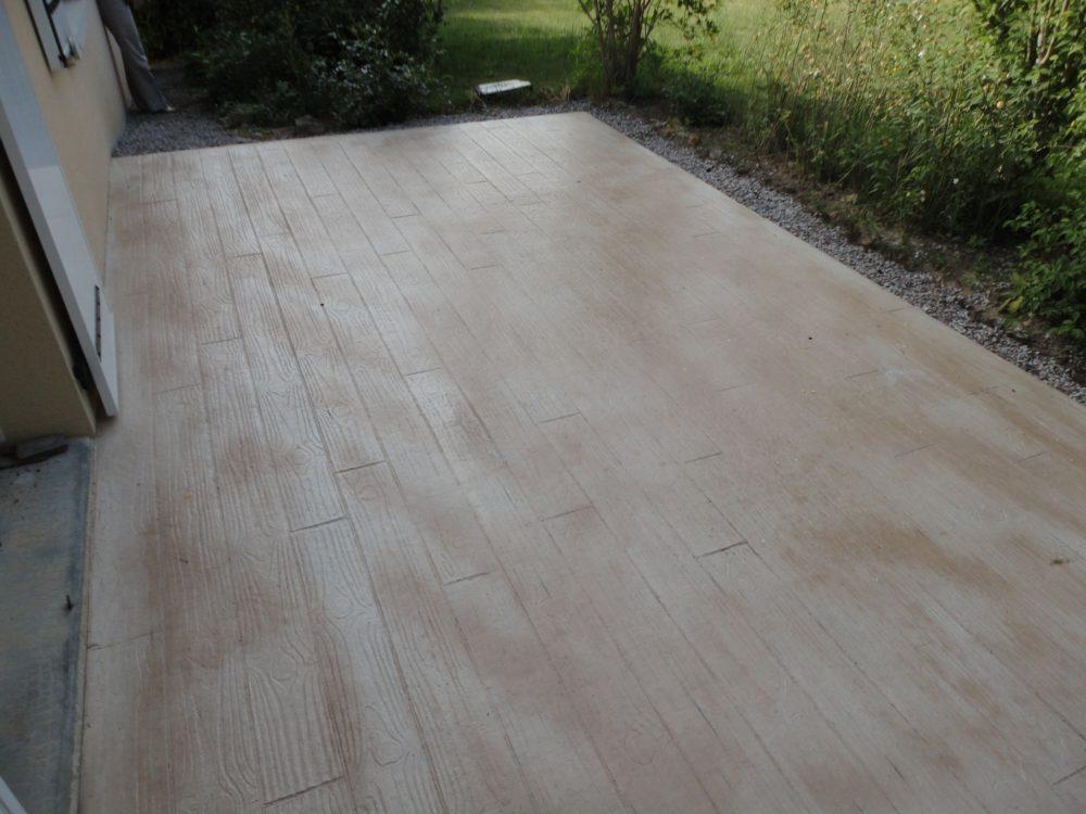 Terrasses «imprimées» - Terrasse béton imprimée bois