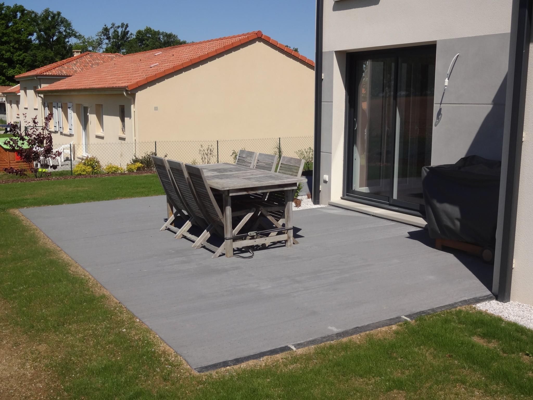 Terrasses béton - Terrasse béton contemporaine