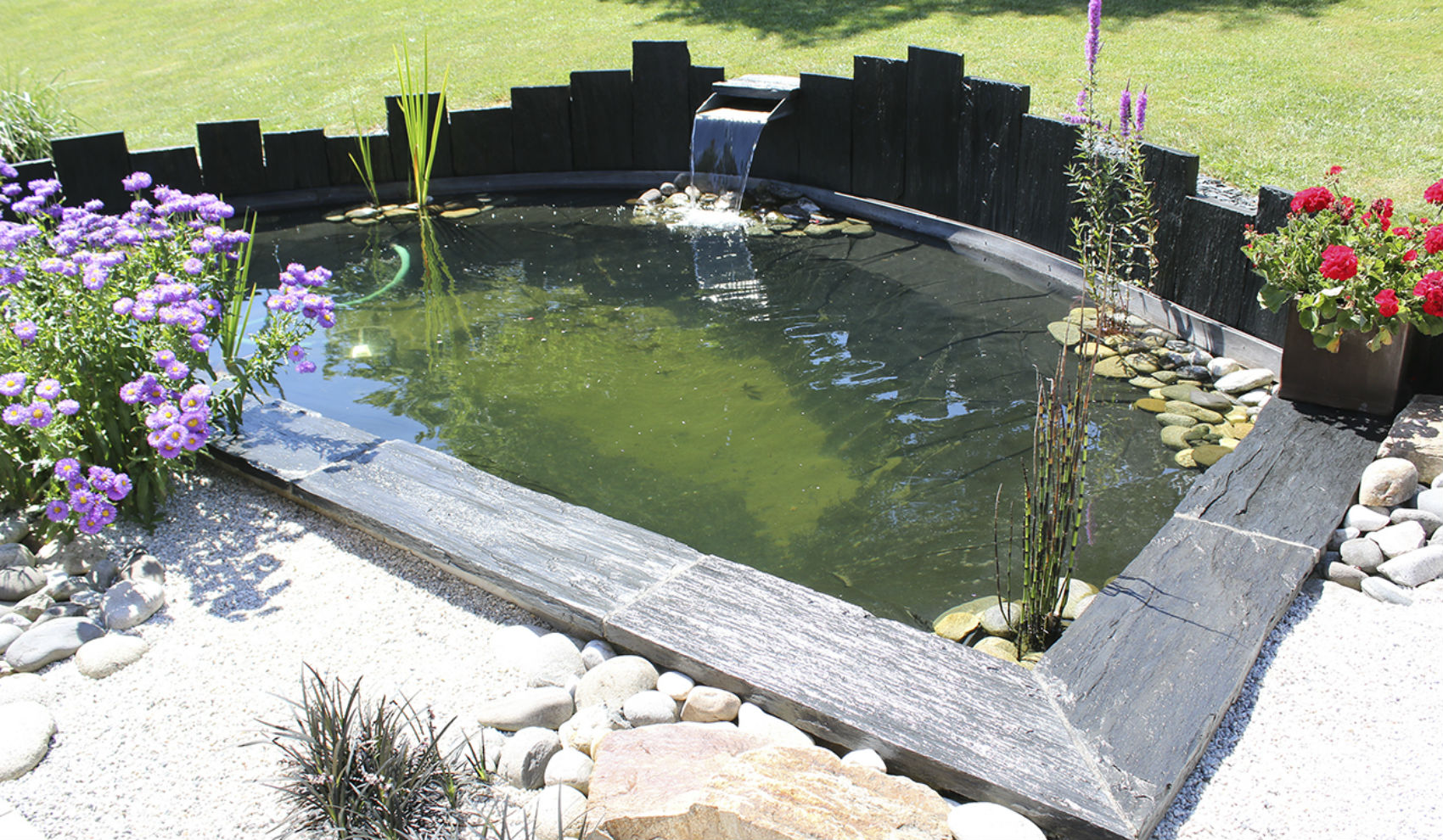 Photo Fontaine De Jardin bassin et fontaine | rebeyrol : aménagement et entretien des